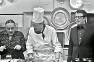 Luigi Veronelli e Ave Ninchi in A Cena alle 7